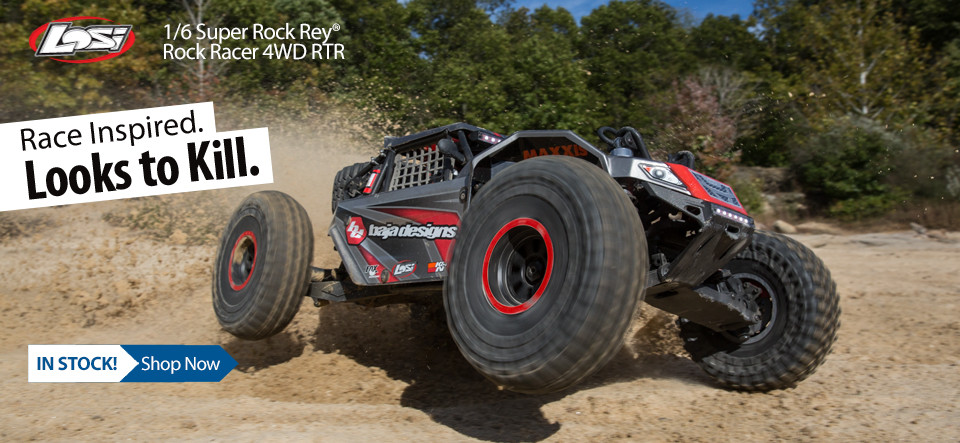In Stock Losi 1/6 Super Rock Rey 4WD Brushless Rock Racer