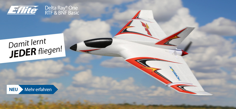 NEU E-flite Delta Ray One Ready to Fly and Bind and Fly Basic