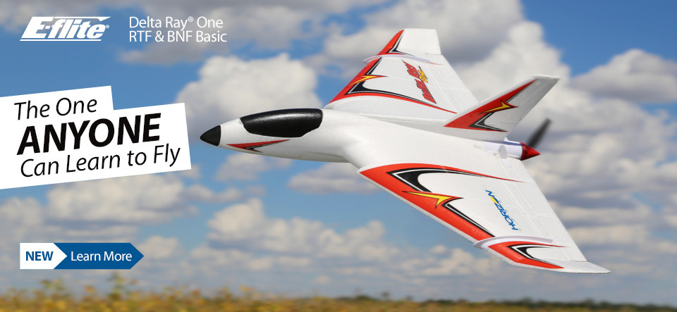 NEW E-flite Delta Ray One Ready to Fly and Bind and Fly Basic