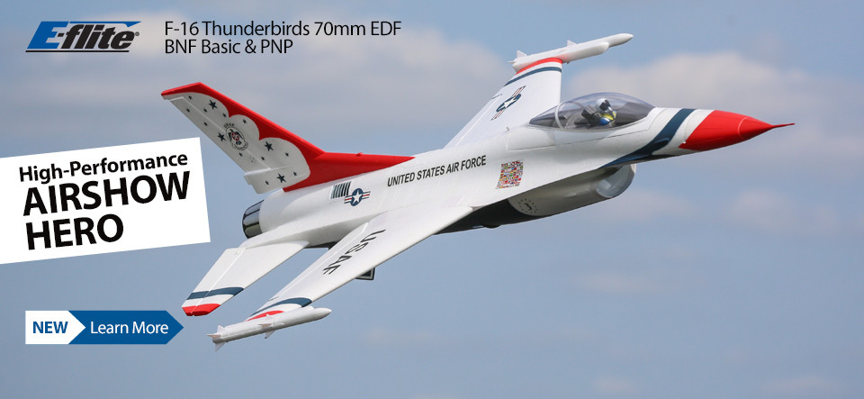 E-flite F-16 Thunderbirds 70mm Electric Ducted Fan