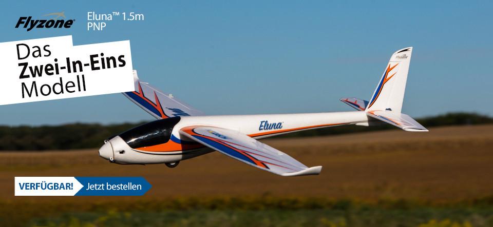 NEU! Flyzone Eluna 1.5m EP Sailplane PNP
