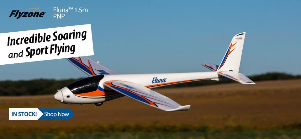 NEW! Flyzone Eluna 1.5m EP Sailplane PNP