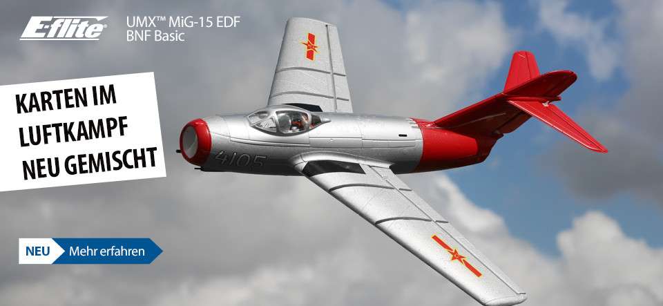 NEU E-flite UMX MiG-15 EDF Bind and Fly Basic