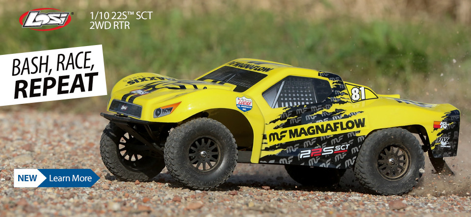 NEW! Losi 1/10 22S SCT 2WD RTR - BASH, RACE, REPEAT