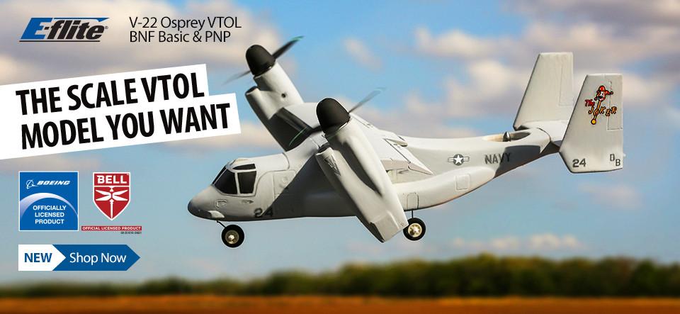E-flite V-22® Osprey BNF Basic & PNP