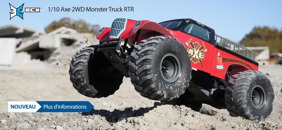 NOUVEAU! ECX 1/10 Axe 2WD Monster Truck