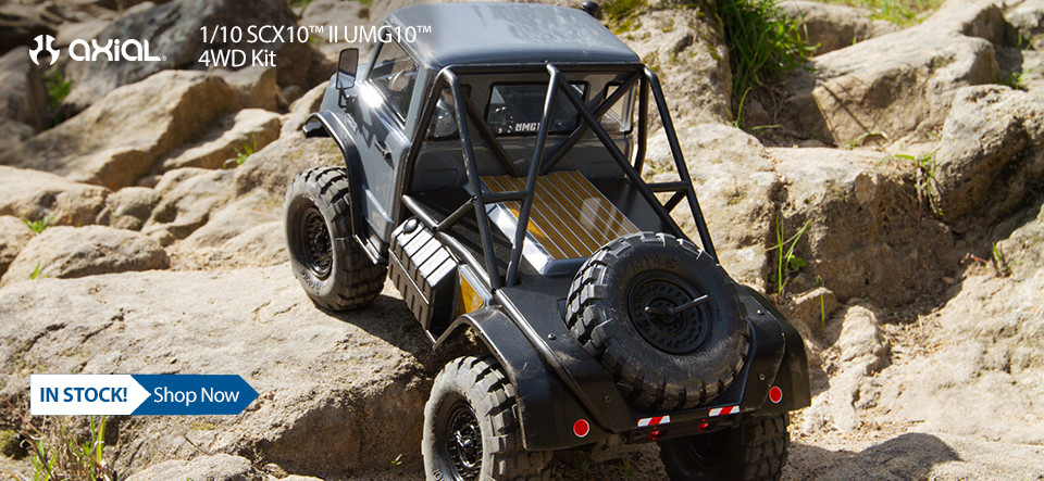 In Stock! Axial 1/10 SCX10™ II UMG10™ 4WD Kit