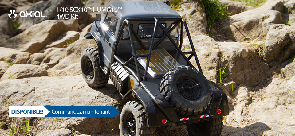 DISPONIBLE! Axial 1/10 SCX10™ II UMG10™ 4WD Kit
