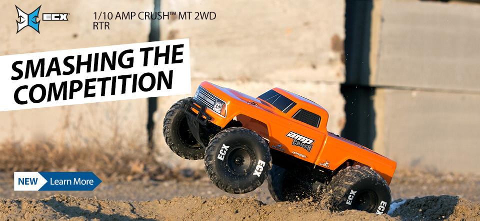 NEW! ECX 1/10 AMP Crush MT 2WD RTR