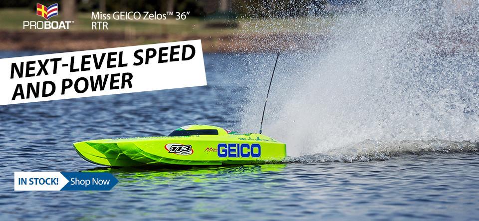 New! Pro Boat Miss GEICO Zelos 36 Twin Brushless Catamaran