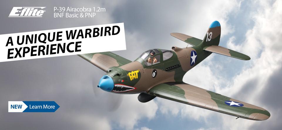 New! E-flite P-39 Airacobra 1.2m BNF Basic & PNP