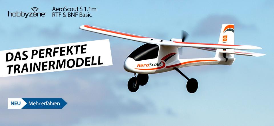HobbyZone AeroScout S 1.1m RTF & BNF Basic