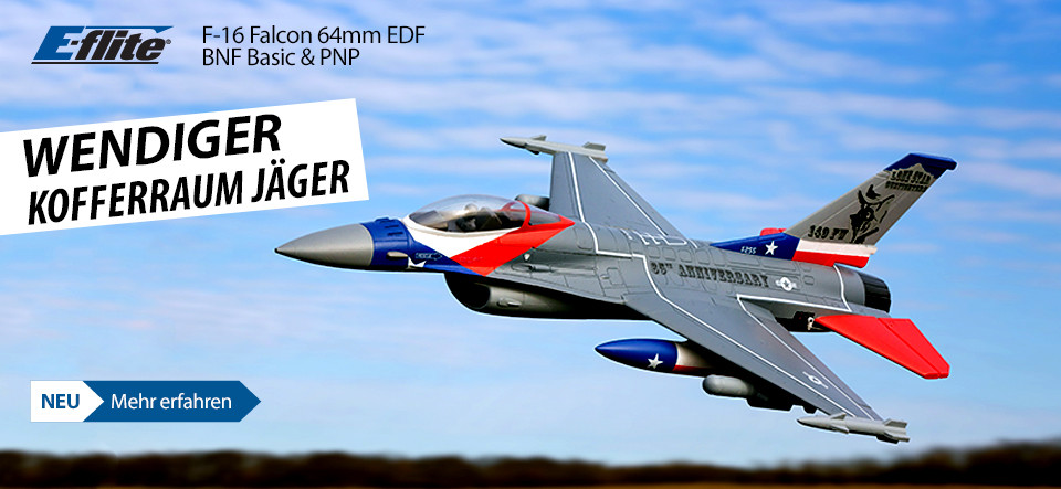 E-flite F-16 Falcon 64mm EDF Jet BNF Basic and PNP RC Aircraft