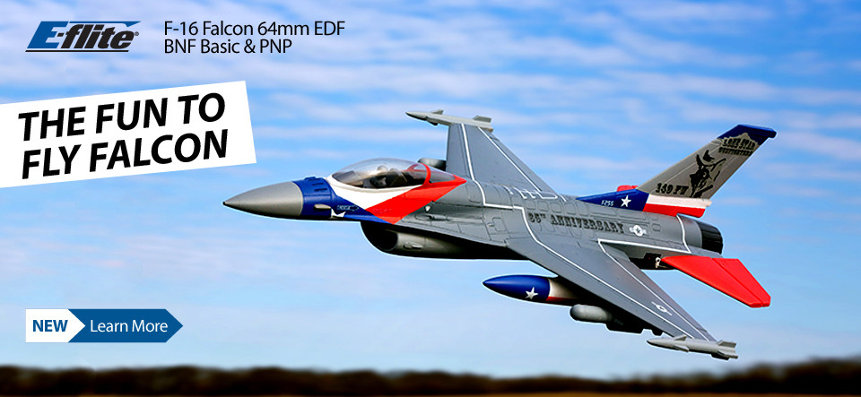NEW! E-flite F-16 Falcon 64mm EDF Jet BNF Basic and PNP RC Aircraft