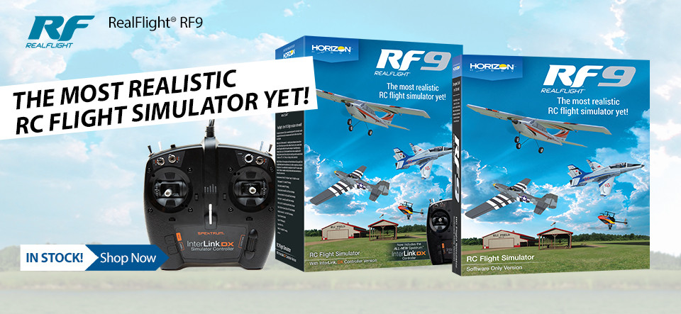 In Stock! RealFlight RF9 Simulator and Controller