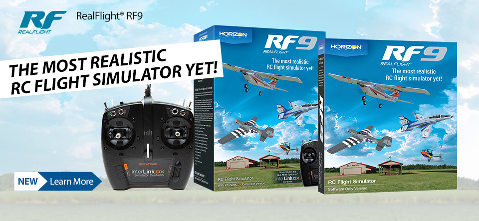 NEW! RealFlight RF9 Simulator and Controller