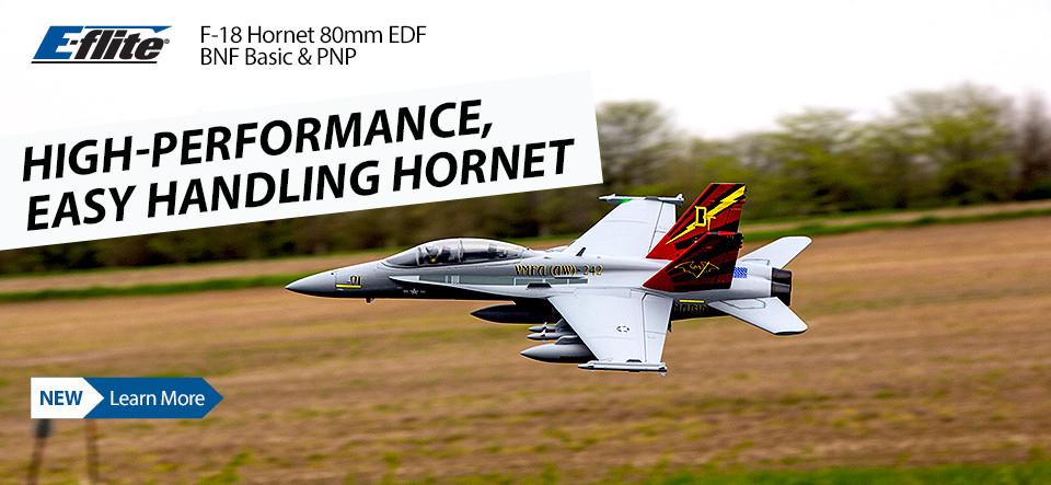 E-flite F-18 Hornet 80mm EDF BNF Basic & PNP