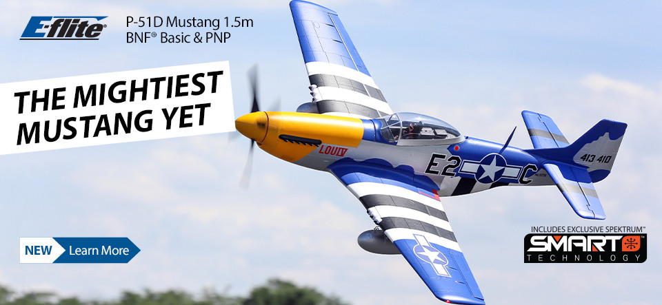 E-flite P-51D Mustang 1.5m BNF Basic and PNP