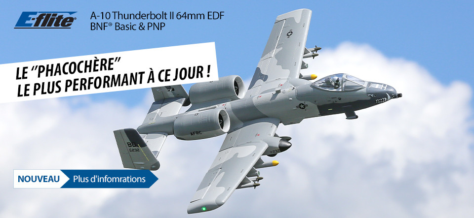 E-flite A-10 Thunderbolt II Twin 64mm EDF BNF Basic & PNP