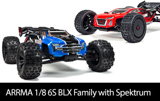ARRMA 1/8 6S BLX Family with Spektrum