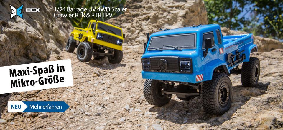 NEU! ECX 1/24 Barrage UV 4WD Scaler Crawler RTR & RTR FPV!