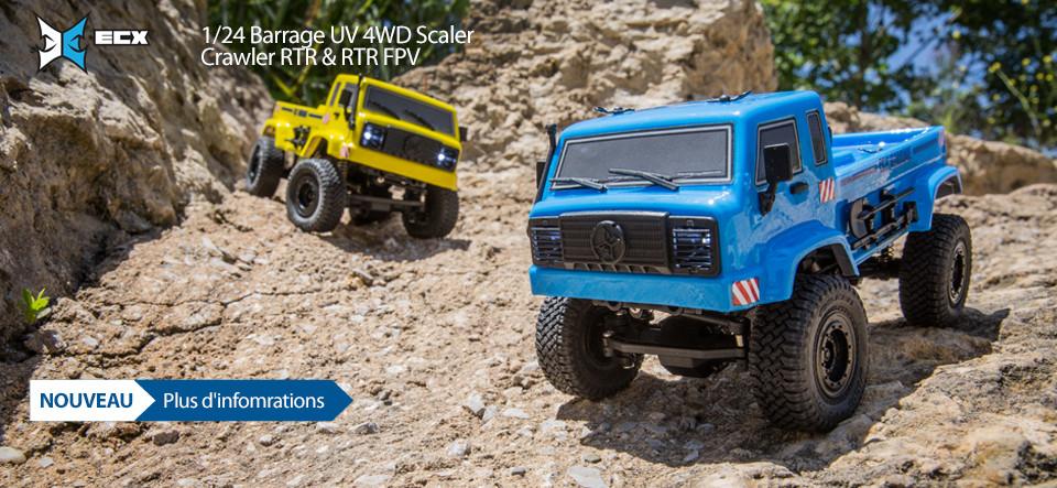 NEW! ECX 1/24 Barrage UV 4WD Scaler Crawler RTR & RTR FPV!