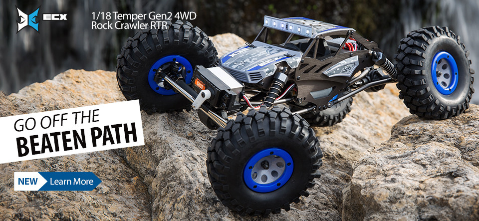NEW! ECX 1/18 Temper 4WD Gen 2 Brushed RTR