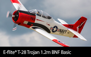 E-flite T-28 Trojan 1.2m BNF Basic with AS3X