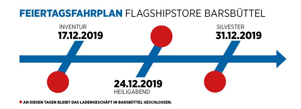 FEIERTAGSFAHRPLAN FLAGSHIPSTORE BARSBUÜTTEL