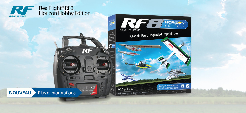 Now with Horizon Hobby exclusive aircraft and technologies!