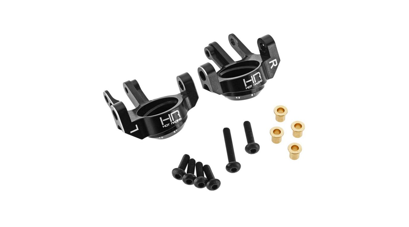 Image for Aluminum Steering Knuckles, Black: SCX10 II from HorizonHobby