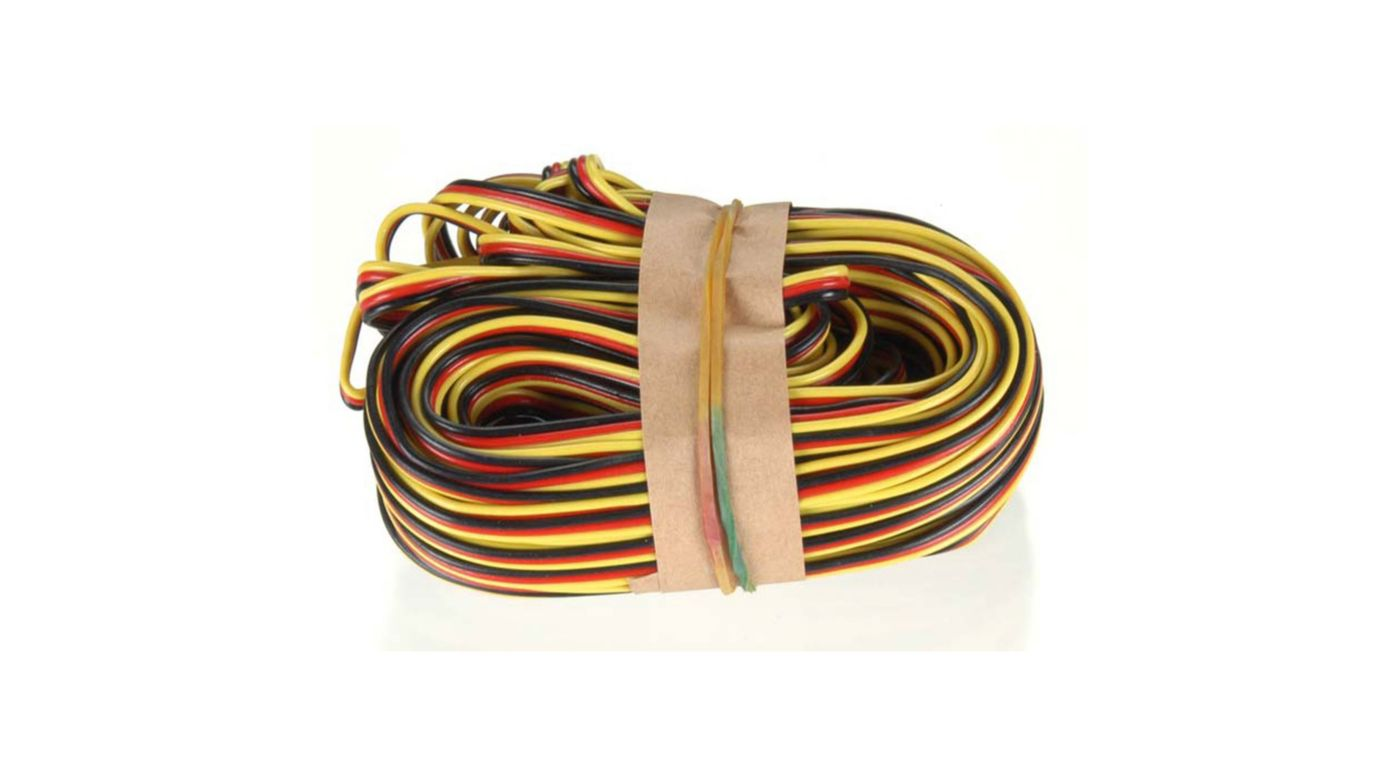 Image for 50' 3-Color Heavy Gauge Servo Wire from HorizonHobby