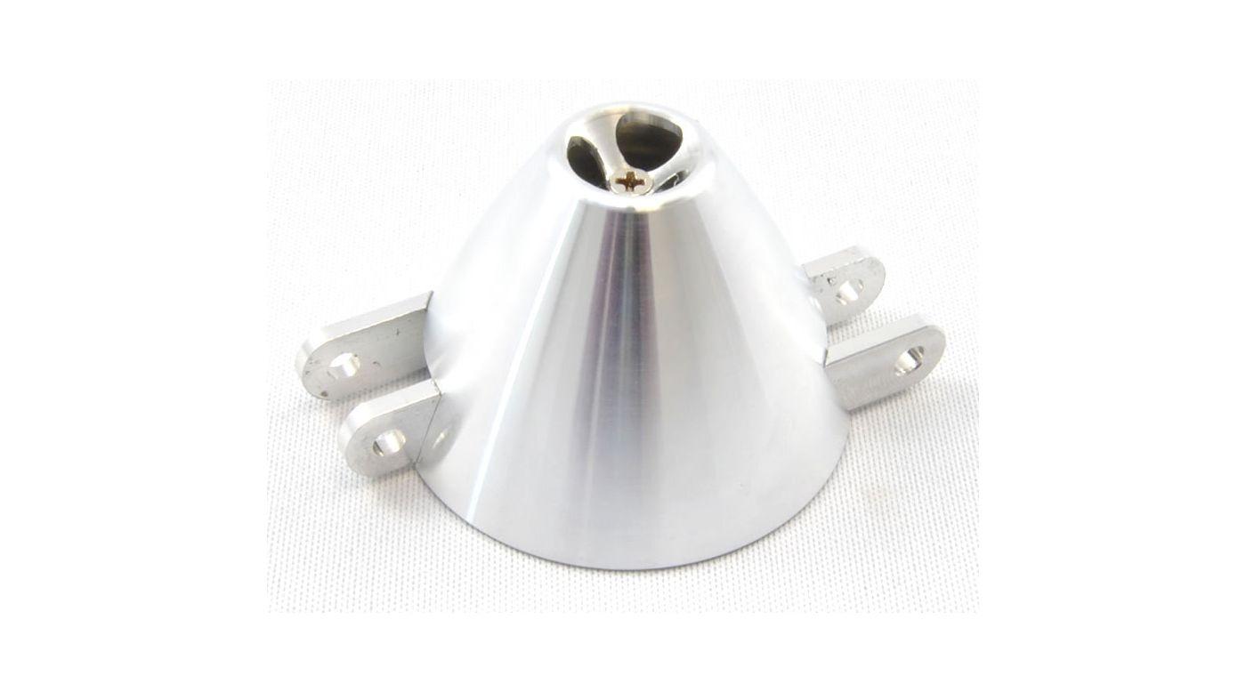 Grafik für Turbo-Aluspinner 38mm (5,0mm) schwarz eloxiert, versetztes Mittelteil in Horizon Hobby