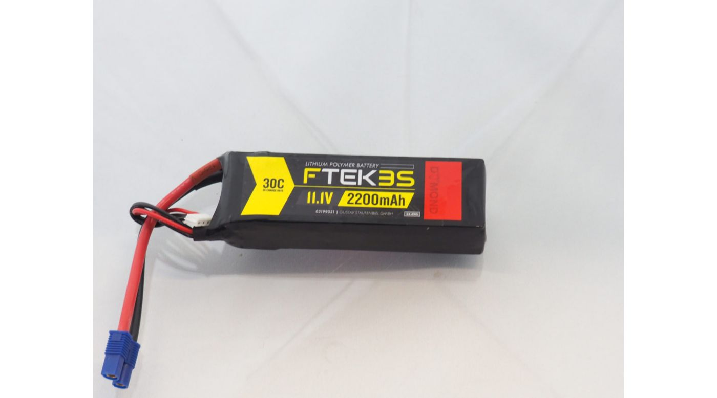 Image for F-TEK 3S 2200mAh 30C LiPo (EC3) from Horizon Hobby