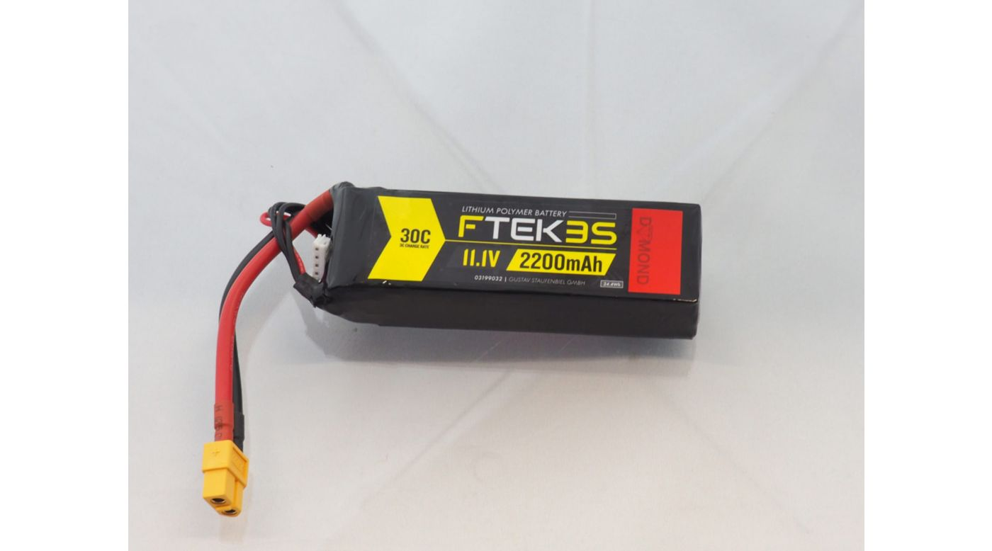 Image for F-TEK 3S 2200mAh 30C LiPo (XT60) from Horizon Hobby