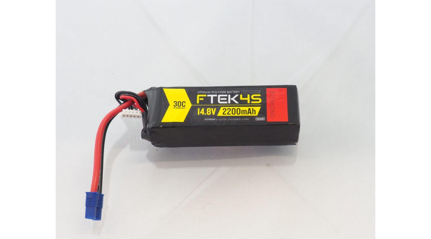 Grafik für DYMOND F-TEK 4S 2200mAh (14,8V) 30C LiPo Akku (EC3) in Horizon Hobby
