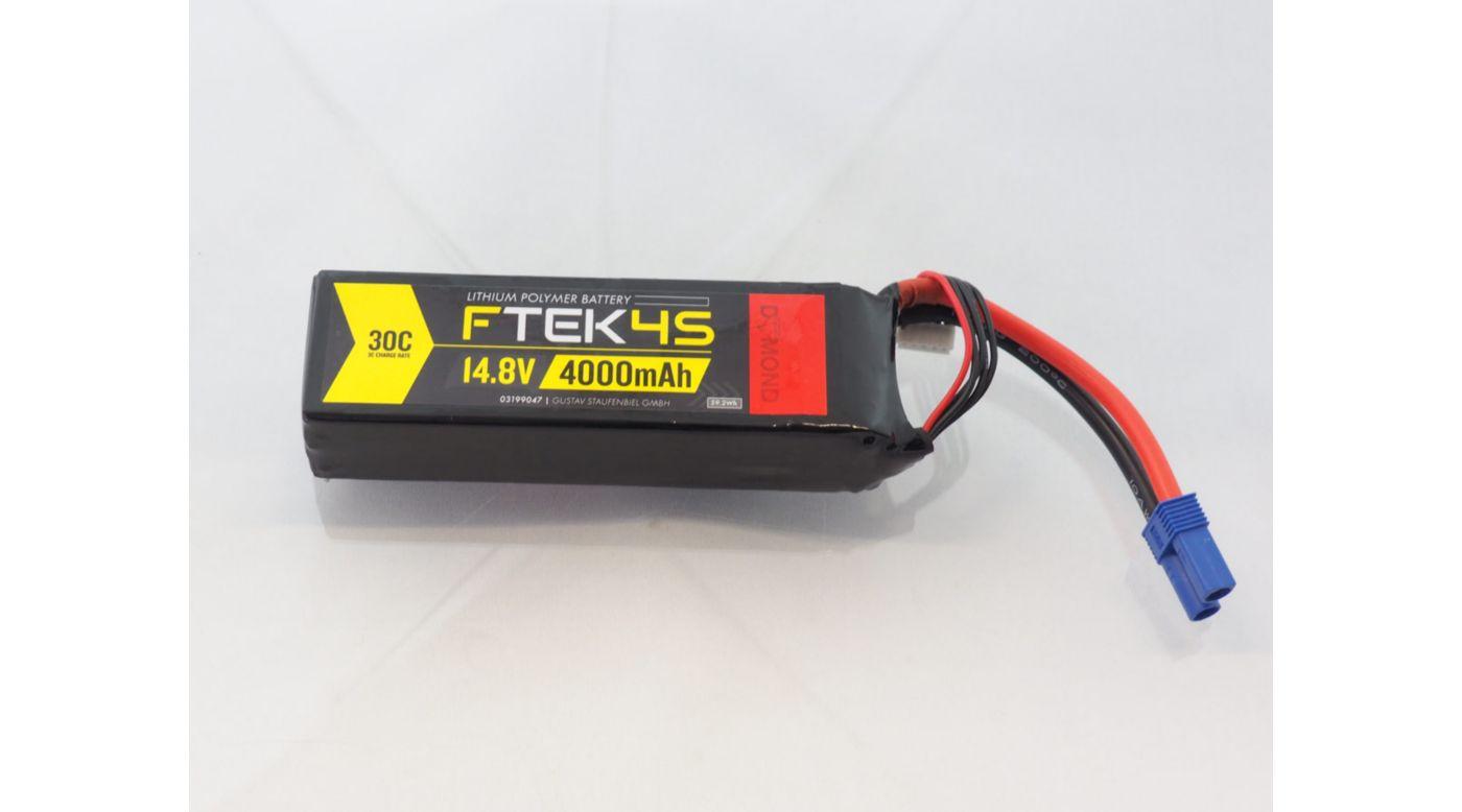 Image for F-TEK 4S 4000mAh 30C LiPo (EC5) from Horizon Hobby