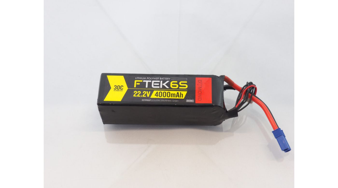 Image for F-TEK 6S 4000mAh 30C LiPo (EC5) from Horizon Hobby