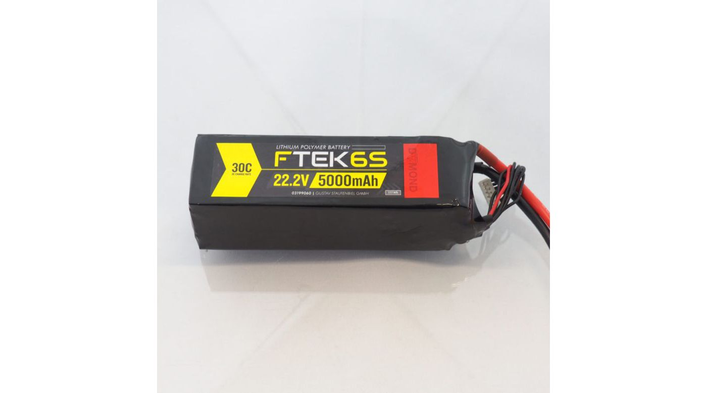 Image for F-TEK 6S 5000mAh 30C LiPo (EC5) from Horizon Hobby