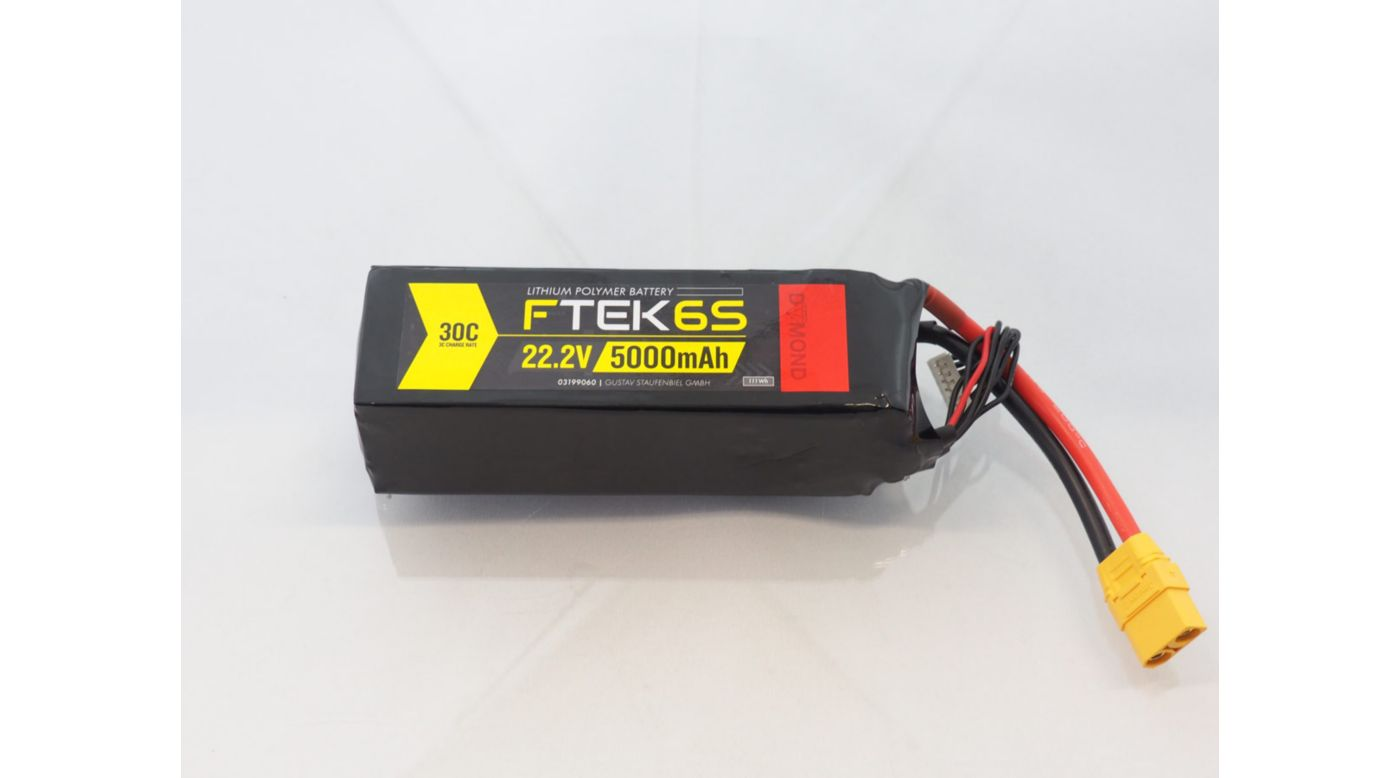 Image for F-TEK 6S 5000mAh 30C LiPo (XT90) from Horizon Hobby