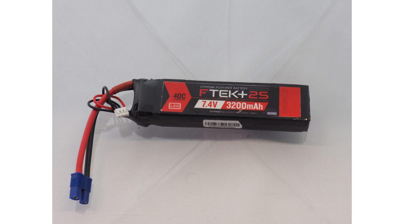 Grafik für DYMOND F-TEK+ 2S 3200mAh (7,4V) 40C LiPo Akku mit LED-Indikator (EC3) in Horizon Hobby