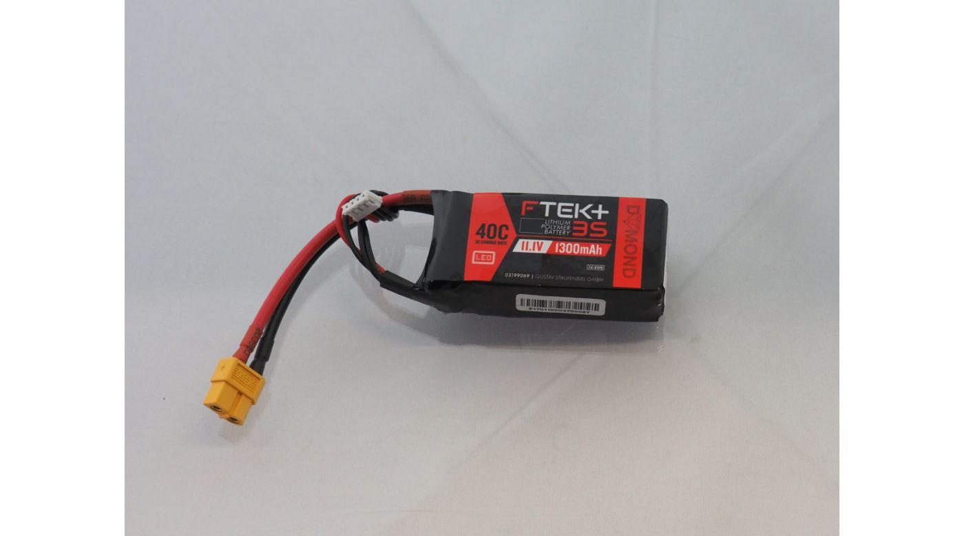 Grafik für DYMOND F-TEK+ 3S 1300mAh (11,1V) 40C LiPo Akku mit LED-Indikator (XT60) in Horizon Hobby