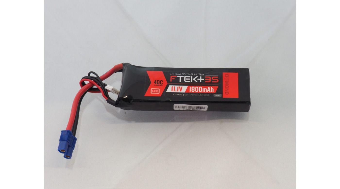 Grafik für DYMOND F-TEK+ 3S 1800mAh (11,1V) 40C LiPo Akku mit LED-Indikator (EC3) in Horizon Hobby