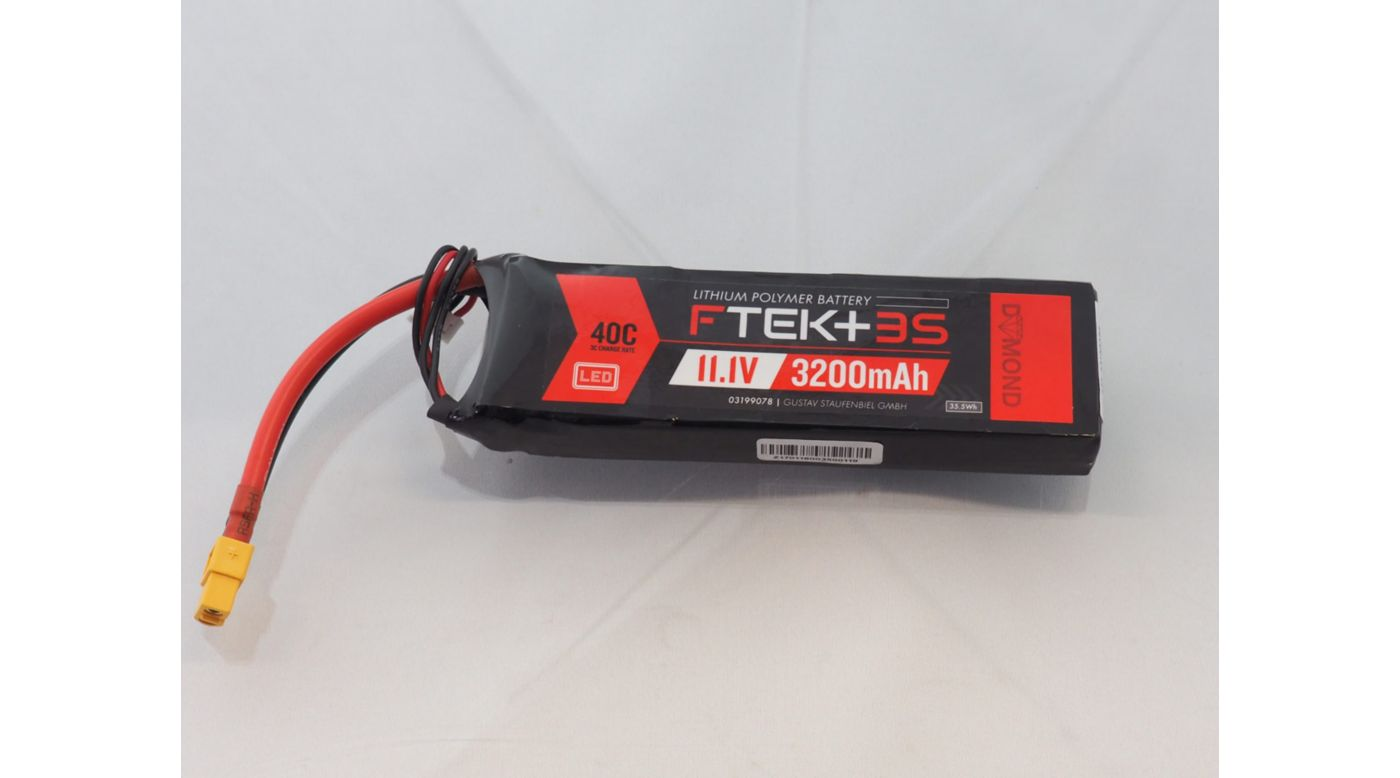 Image for F-TEK+ 3S 3200mAh 40C LiPo w LED Indicator (XT60) from Horizon Hobby