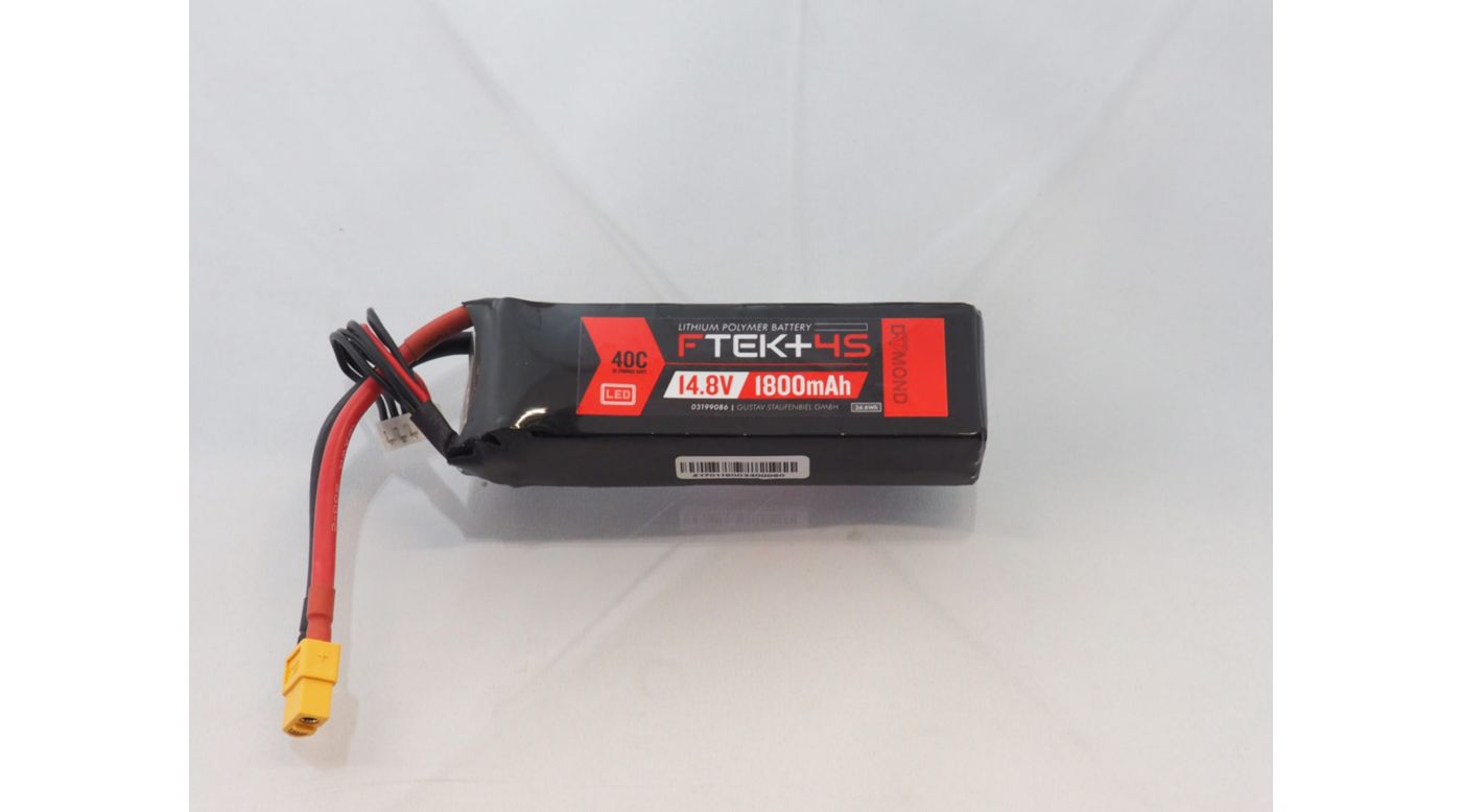 Grafik für DYMOND F-TEK+ 4S 1800mAh (14,8V) 40C LiPo Akku mit LED-Indikator (XT60) in Horizon Hobby