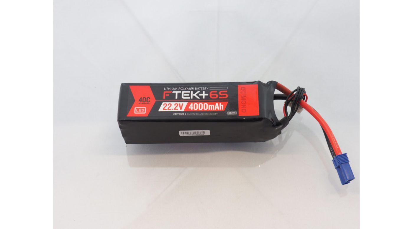 Grafik für F-TEK+ 6S 4000mAh (22,2V) 40C LiPo Akku mit LED-Indikator (EC5) in Horizon Hobby