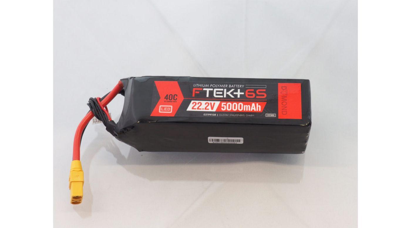 Grafik für F-TEK+ 6S 5000mAh (22,2V) 40C LiPo Akku mit LED-Indikator (XT90) in Horizon Hobby