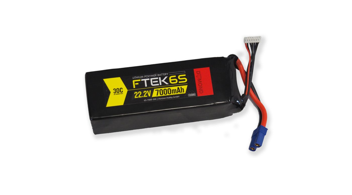 Image for F-TEK+ 6S 7000mAh (22 2V) 30C LiPo (EC5) from Horizon Hobby