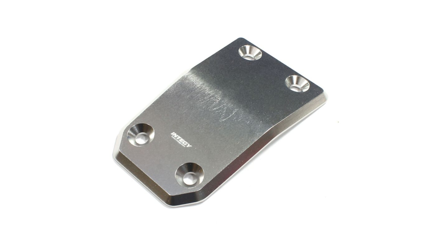 Image for Billet Machined Front Skid Plate, Silver: Losi 5IVE-T from HorizonHobby