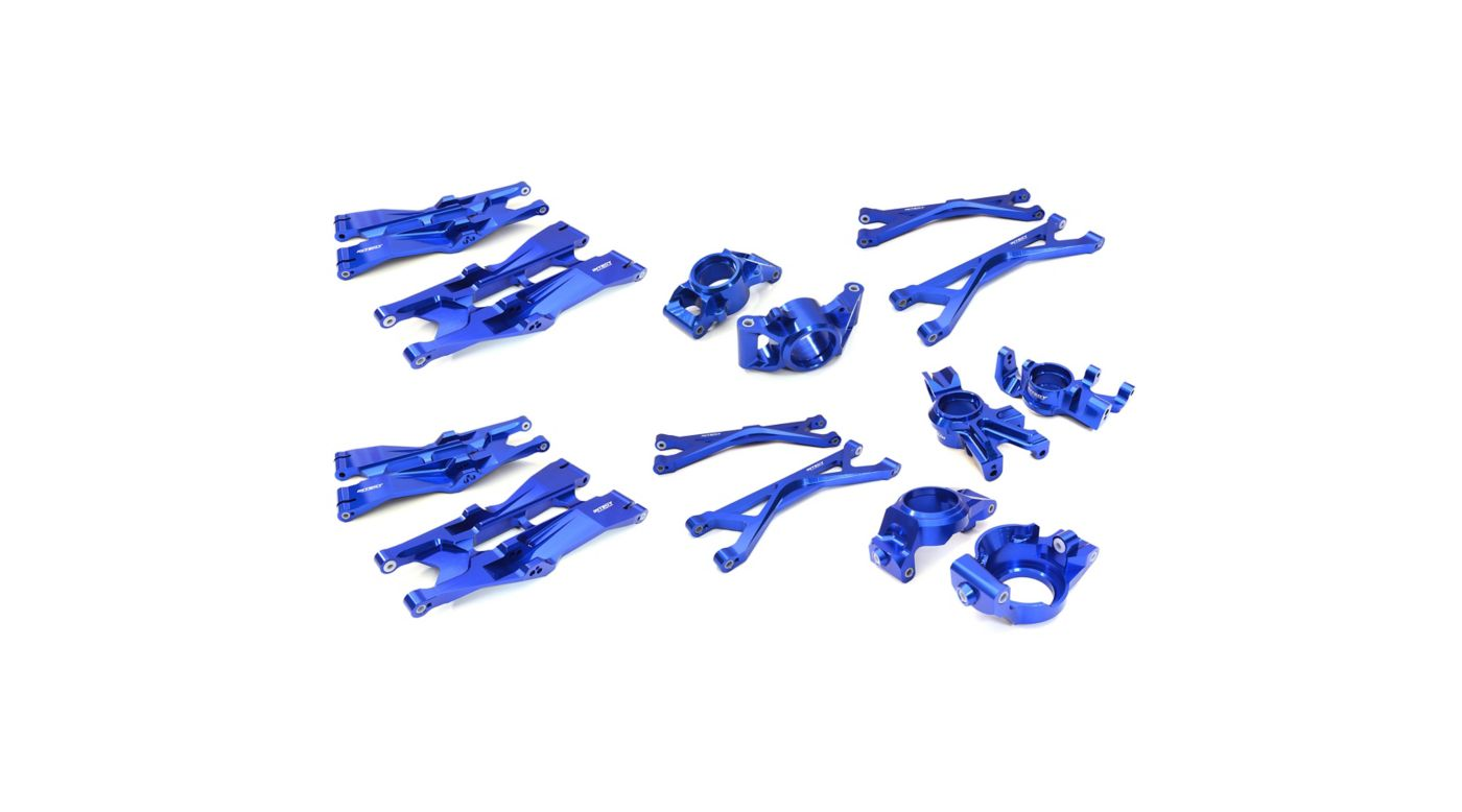 Image for Billet MachinedAluminum Suspension Conversion Kit, Blue: X-Maxx from HorizonHobby